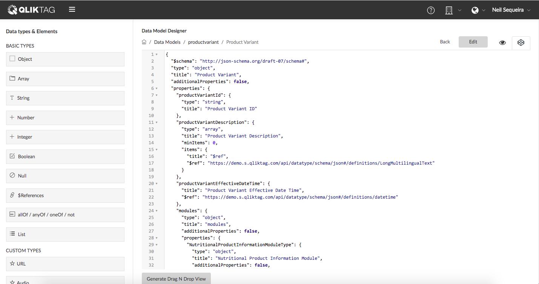 Json Schema Data Model Editor Tool